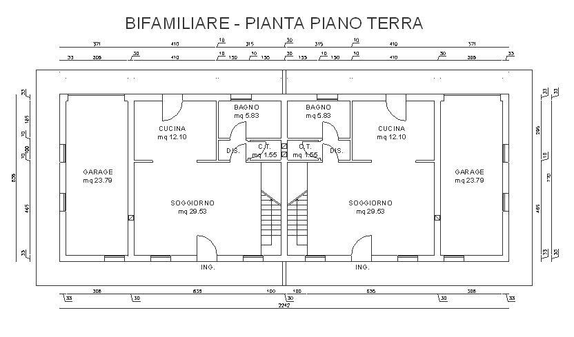 Opere edili residenziale treviso morgano ponte di piave - Pianta casa bifamiliare ...